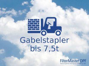 Partikelfilterreinigung Gabelstapler bis 7,5t