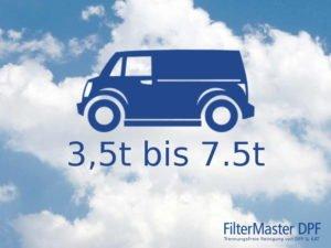DPF-Reinigung Transporter und kleine LKW 3,5 bis 7,5t