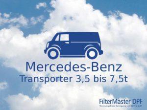 Filterreinigung Mercedes-Benz Transporter 3,5t bis 7,5t