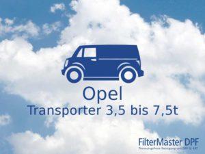 Filterreinigung Opel Transporter 3,5t bis 7,5t