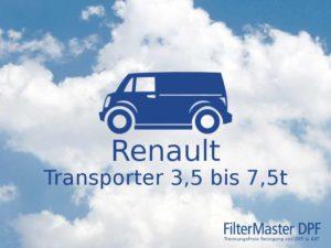 Filterreinigung Renault Transporter 3,5t bis 7,5t