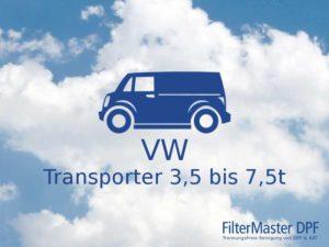 Filterreinigung VW Transporter 3,5t bis 7,5t