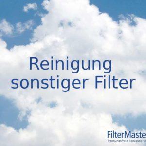 Sonstige Filter reinigen